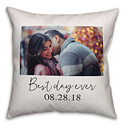 Designs Direct Best Day Ever Horizontal Indoor/Outdoor Square Throw Pillow