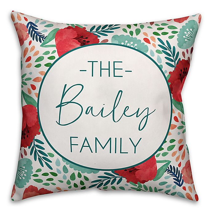 Alternate image 1 for Designs Direct Multicolor Florals Indoor/Outdoor Square Pillow