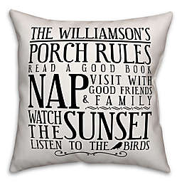 Designs Direct Porch Rules Indoor/Outdoor Square Pillow