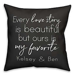 Designs Direct Every Love Story Indoor/Outdoor Square Pillow