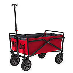 Seina Collapsible Utility Wagon in Red/Grey