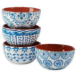 Certified International Porto® by Tre Sorelle Studios Ice Cream Bowls in Blue (Set of 4)