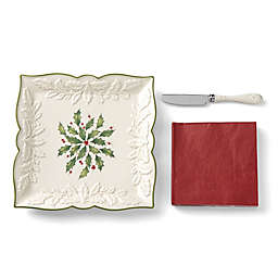 Lenox® Holiday™ Carved Square Tray with Knife