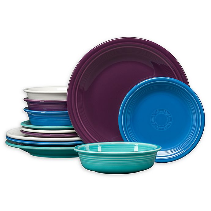 Alternate image 1 for Fiesta® Coastal 12-Piece Classic Dinnerware Set