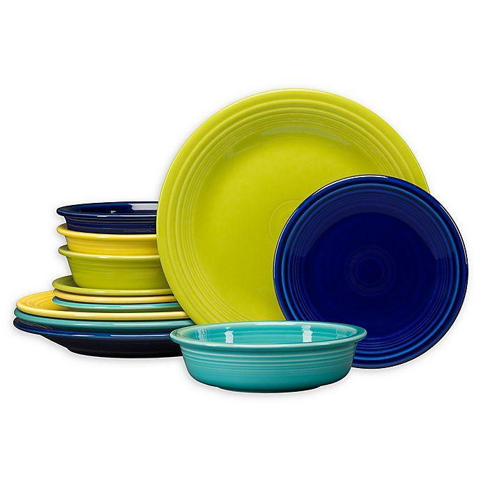 Alternate image 1 for Fiesta® Cools 12-Piece Classic Dinnerware Set