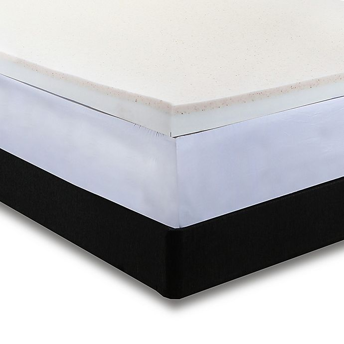 Alternate image 1 for Independent Sleep Copper Infused Combination Memory Foam Queen Mattress Topper