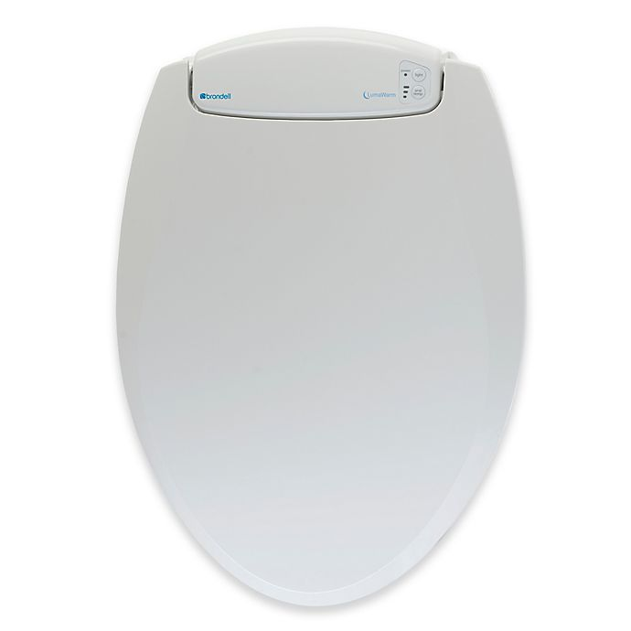 Alternate image 1 for Brondell LumaWarm Heated Elongated Nightlight Toilet Seat