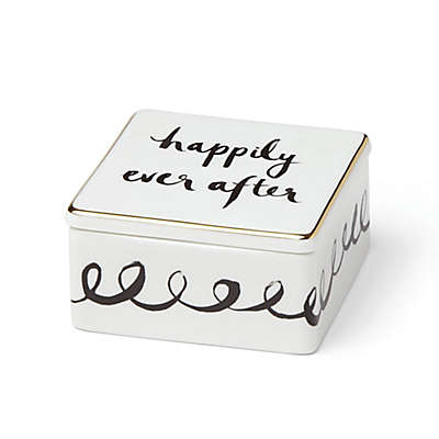 """kate spade new york Bridal Party™ """"Happily Ever After"""" Keepsake Box in White"""