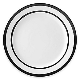 kate spade new york All in Good Taste Sculpted Stripe™ Black Dinner Plates (Set of 4)