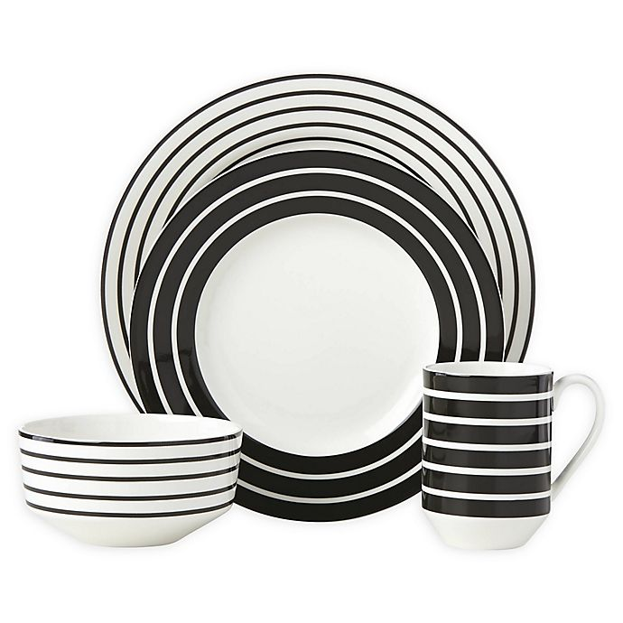 Alternate image 1 for kate spade new york Primrose Drive™ Stripe 4-Piece Place Setting
