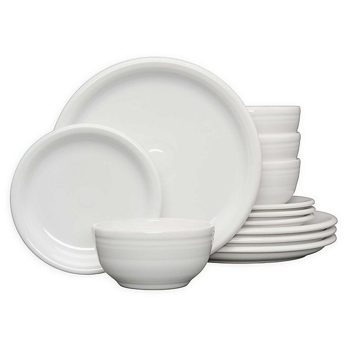 Alternate image 1 for Fiesta® 12-Piece Bistro Dinnerware Set in White