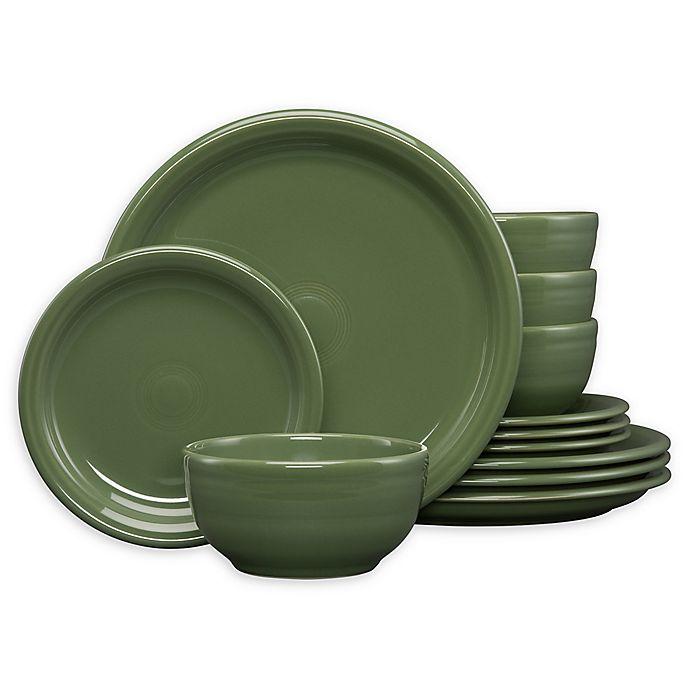 Alternate image 1 for Fiesta® 12-Piece Bistro Dinnerware Set in Sage