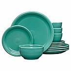 Fiesta® 12-Piece Bistro Dinnerware Set in Turquoise