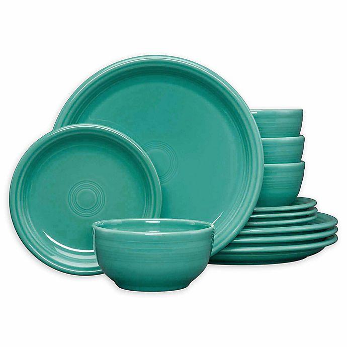 Crown Jewel Bath Set 12 Bath Towels 12 Hand Towels 12: Fiesta® 12-Piece Bistro Dinnerware Set In Turquoise