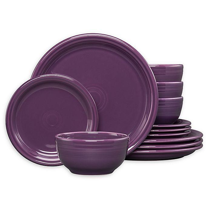 Alternate image 1 for Fiesta® 12-Piece Bistro Dinnerware Set in Mulberry