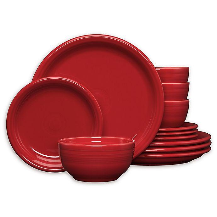 Alternate image 1 for Fiesta® 12-Piece Bistro Dinnerware Set in Scarlet