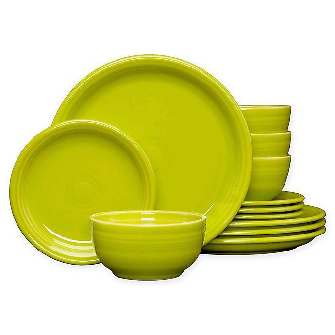 Alternate image 1 for Fiesta® 12-Piece Bistro Dinnerware Set in Lemongrass