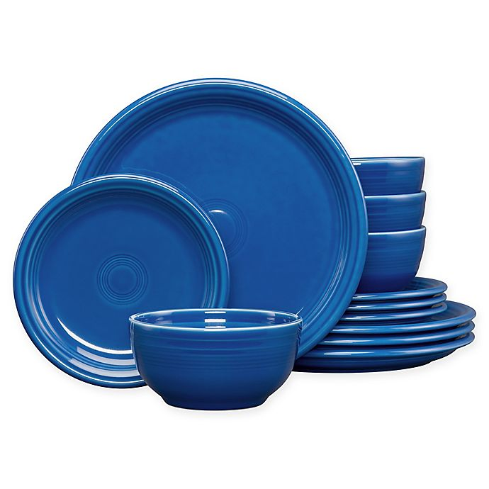 Alternate image 1 for Fiesta® 12-Piece Bistro Dinnerware Set in Lapis