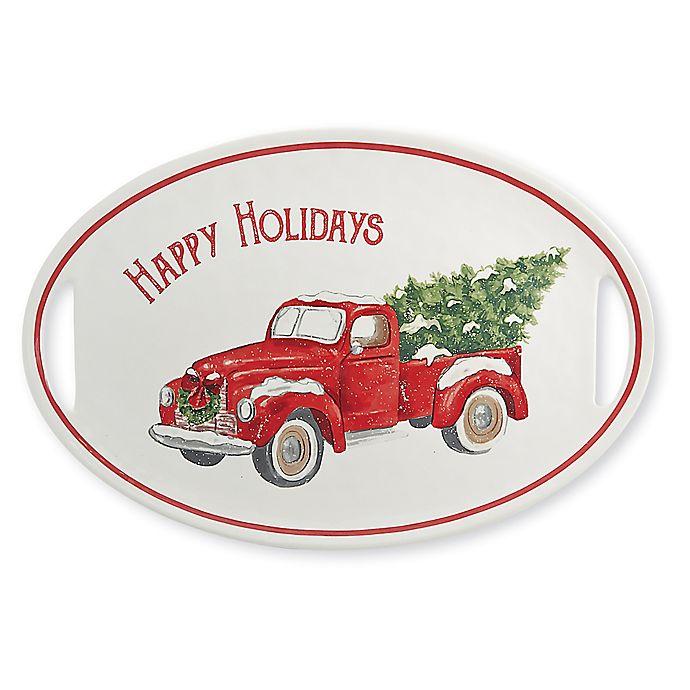 Alternate image 1 for Mud Pie® Circa Christmas Red Truck Platter
