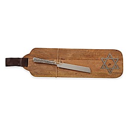 Mud Pie® Star of David Serving Board with Knife