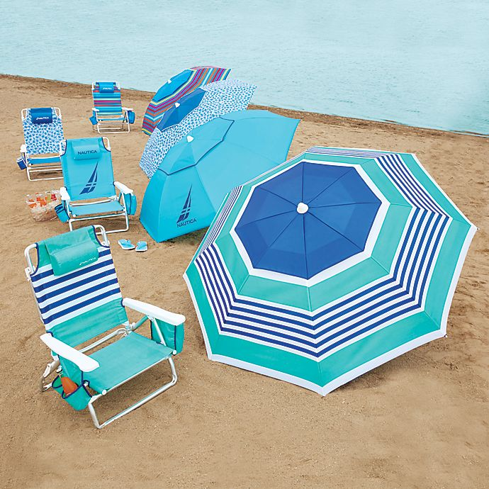 Peachy Nautica Beach Chair And Umbrella Collection Frankydiablos Diy Chair Ideas Frankydiabloscom