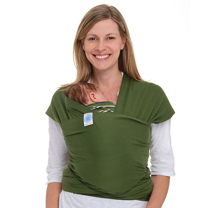 Alternate image 1 for Moby® Wrap Baby Carrier in Leaf