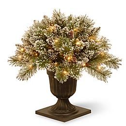 National Tree Company 18-Inch Glittery Bristle Pine Porch Bush