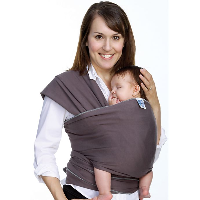 Alternate image 1 for Moby® Wrap Baby Carrier in Slate