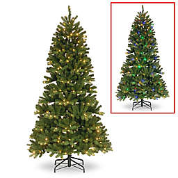 Winter Wonderland 7 Foot Pre Lit Slim Newberry Spruce Christmas Tree