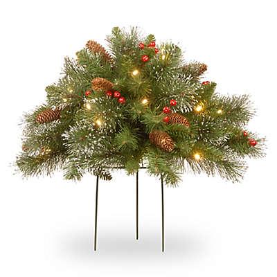 Winter Wonderland 20-Inch Pre-Lit Crestwood Spruce Urn Filler