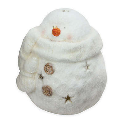 Northlight® 10.75-Inch White Tealight Snowman With Star