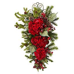Nearly Natural 27-Inch Holiday Hydrangea Swag