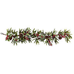 Nearly Natural 54-Inch Holly Berry Garland
