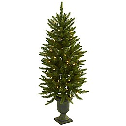 Nearly Natural 4-Foot Pre-Lit Christmas Tree with Urn
