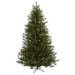 Nearly Natural 7.5-Foot Pre-Lit Pine Christmas Tree