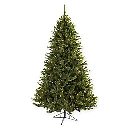 Nearly Natural 7.5-Foot Pre-Lit Multi-Pine Christmas Tree