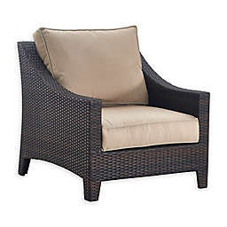 Serta Tahoe All Weather Wicker Outdoor Arm Chair in Brown