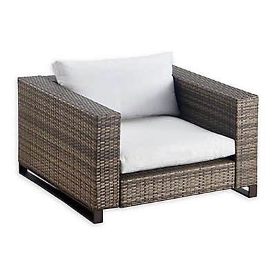 Tommy Hilfiger Oceanside All Weather Wicker Outdoor Arm Chair in Grey