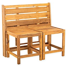 Safavieh Belamy All-Weather Acacia Wood Transformer Bench