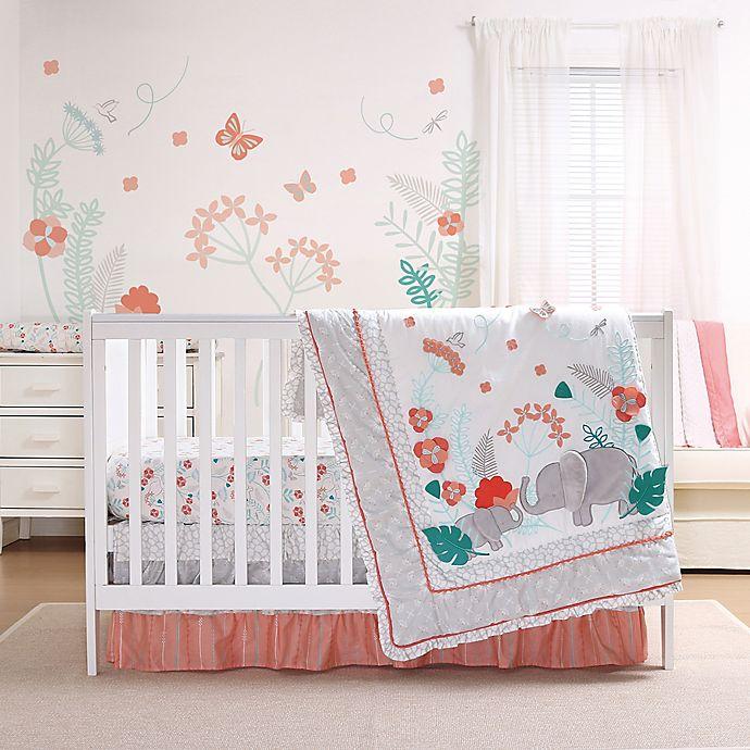 Alternate image 1 for The Peanutshell™ Safari Love Crib Bedding Collection
