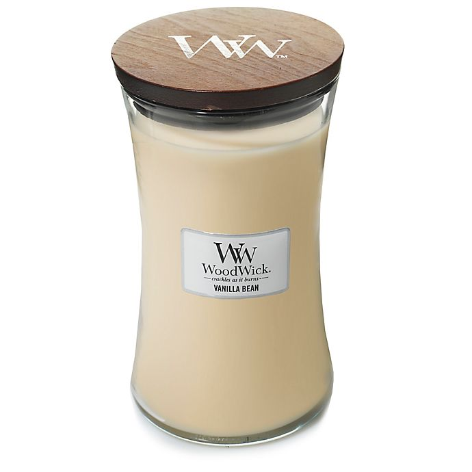 Alternate image 1 for WoodWick® Vanilla Bean 22-Ounce Jar Candle