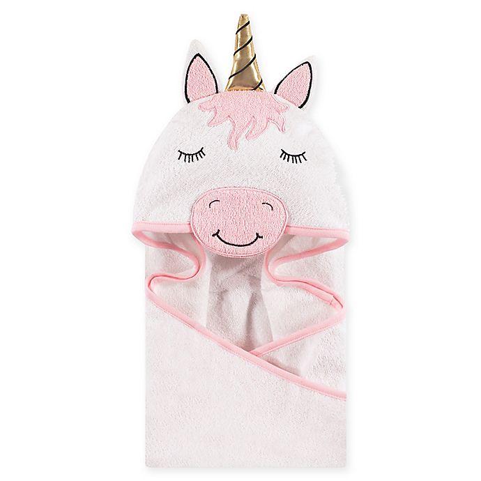 Alternate image 1 for Hudson Baby® Unicorn Hooded Towel in White