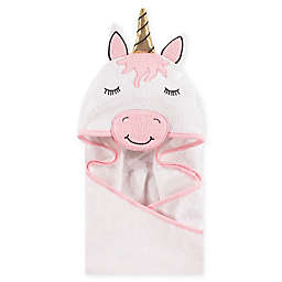 Hudson Baby® Unicorn Hooded Towel in White