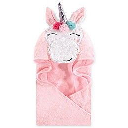 Hudson Baby® Whimsical Unicorn Hooded Towel in White
