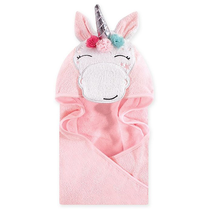 06848f712 Hudson Baby® Whimsical Unicorn Hooded Towel in White | buybuy BABY