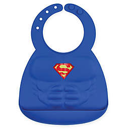 Bumkins® DC Comics™ Superman Muscles Multicolor Silicone Bib