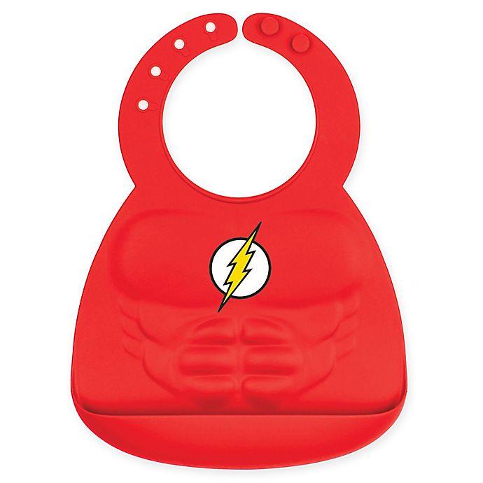 Alternate image 1 for Bumkins® DC Comics™ The Flash Muscle Multicolor Silicone Bib