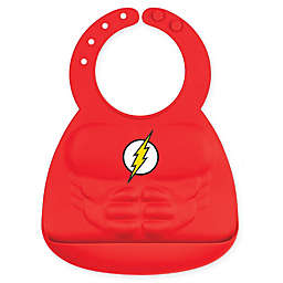 Bumkins® DC Comics™ The Flash Muscle Multicolor Silicone Bib