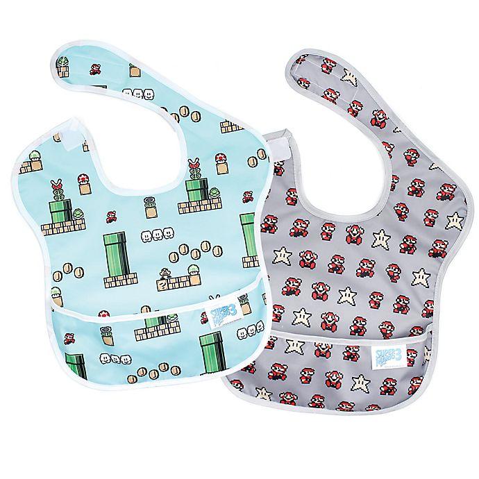 Alternate image 1 for Bumkins® SuperBib®! 2-Pack Nintendo Super Mario Multicolor Bibs