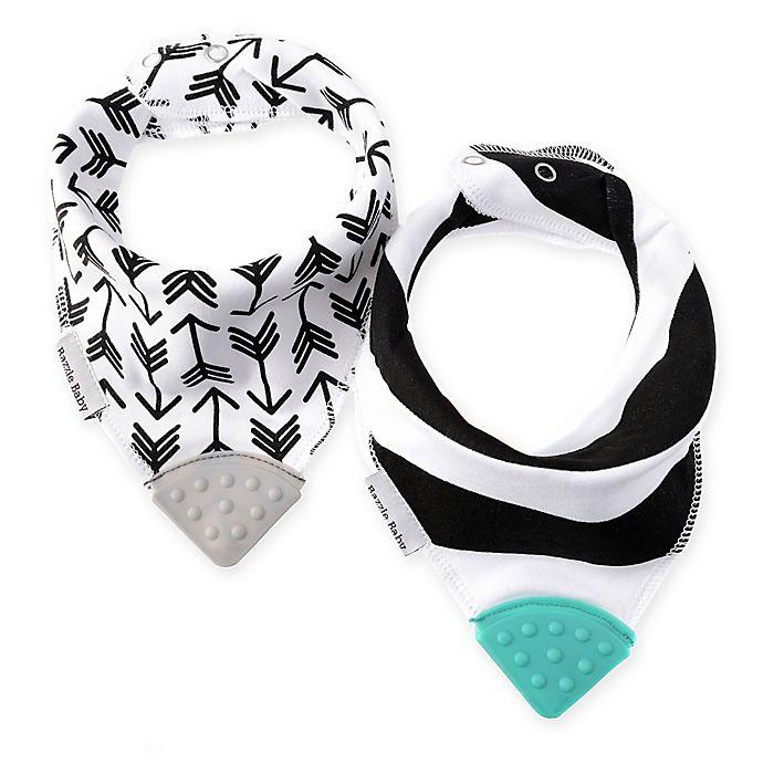 Alternate image 1 for 2-Pack Banda Bib Teether™ in Black/White